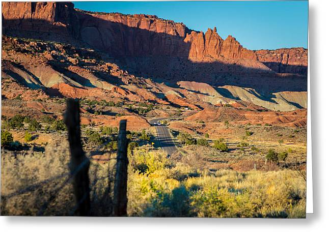 Ranch Greeting Cards - Evening Sun at Capitol Reef N.P Greeting Card by Michael J Bauer