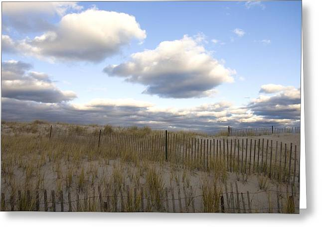 Evening Sunset Beach Scene Along Cape Greeting Card by Keenpress