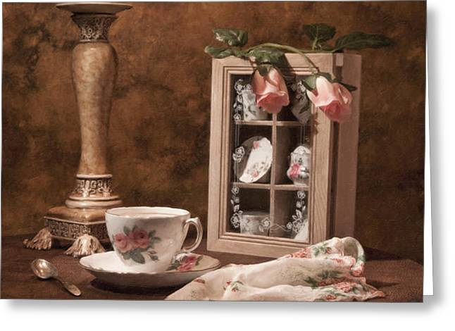 Evening Tea Still Life Greeting Card by Tom Mc Nemar