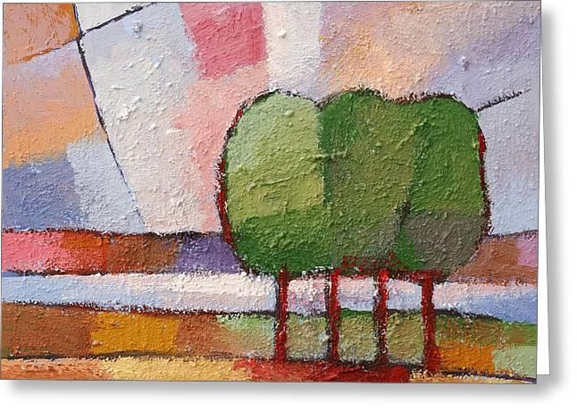 Bauhaus Greeting Cards - Evening Trees Greeting Card by Lutz Baar