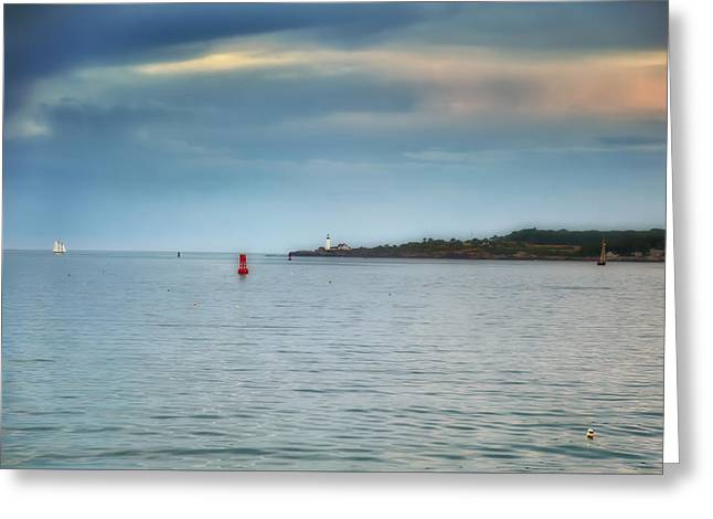 Coastal Maine Greeting Cards - Evening Voyages Greeting Card by Richard Bean