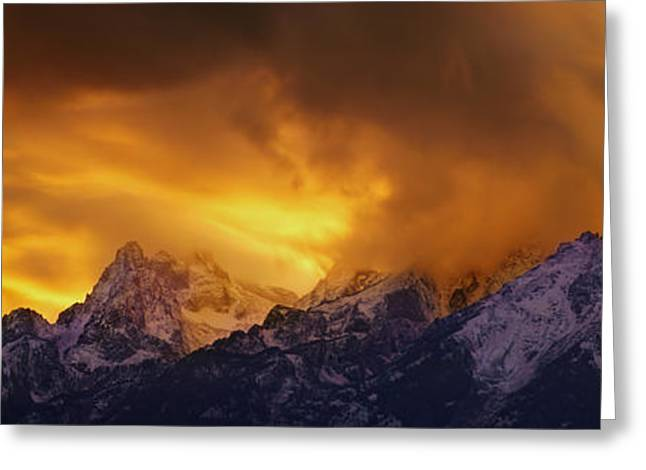 Tetons Greeting Cards - Event Horizon - CraigBill.com - Open Edition Greeting Card by Craig Bill