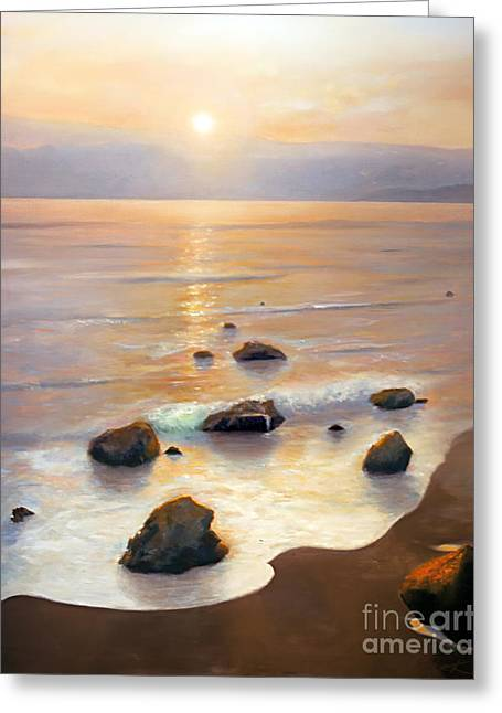 Illuminates Greeting Cards - Eventide Greeting Card by Michael Rock