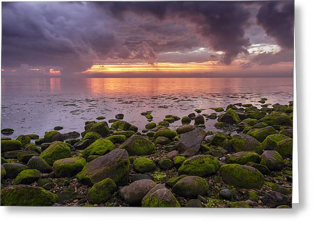 York Beach Greeting Cards - Eventide Greeting Card by Mike Lang