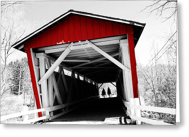 Everett Bridge Greeting Card by Rachel Barrett