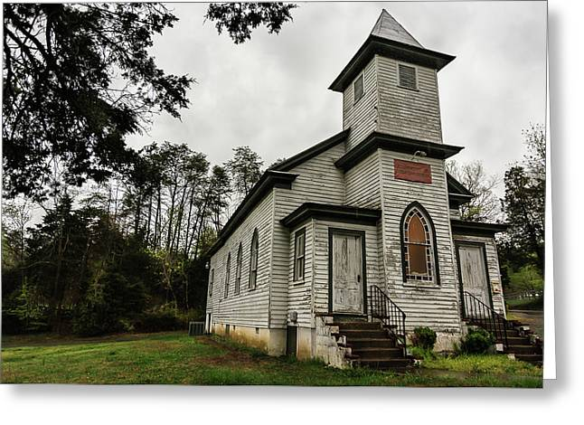 Evergreen Baptist Church In Color Greeting Card by Jeremy Clinard