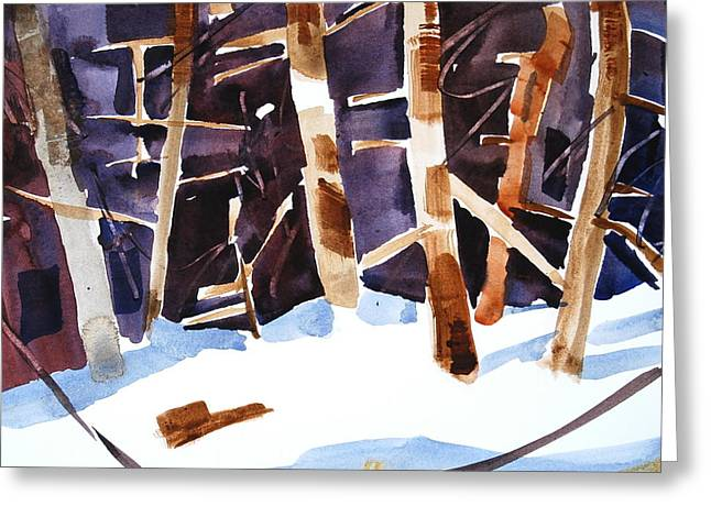 Berkshires Of New England Greeting Cards - Evergreens Greeting Card by Len Stomski