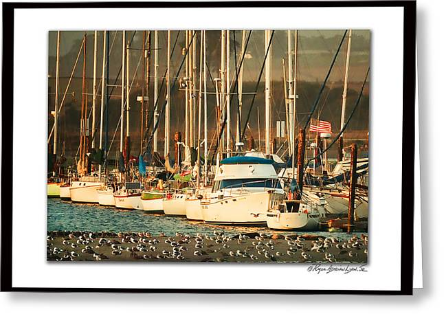 Santa Cruz Sailboat Greeting Cards - Everones Waiting Greeting Card by Roger Lyon