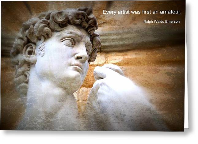 Motivational Poster Photographs Greeting Cards - Every Artist  Greeting Card by Jen White