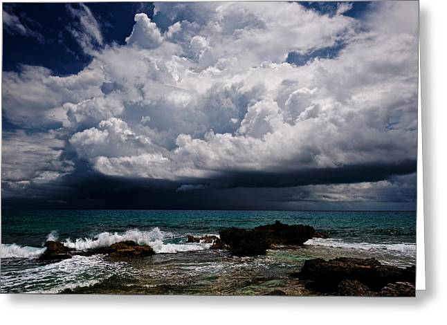 Summer Storm Greeting Cards - Every Man for Himself Greeting Card by Riccardo Mantero