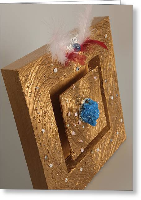 Glass Reliefs Greeting Cards - Every soul is royal 2 Greeting Card by Heidi Sieber