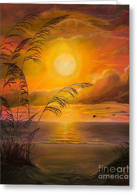 Birds Paintings Greeting Cards - Everyday sunrise Greeting Card by Zina Stromberg