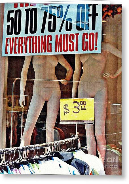 Everything Greeting Cards - Everything Must Go Greeting Card by Sarah Loft