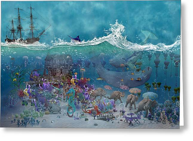 Everything Under The Sea Greeting Card by Betsy Knapp