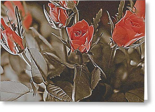 Rose Petals Greeting Cards - Everythings Rosie Greeting Card by Angela Aird