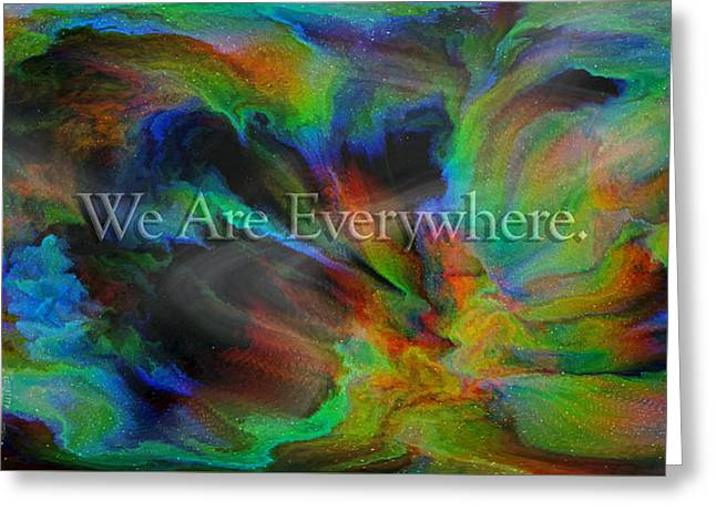 Everywhere Greeting Card by Betsy Knapp