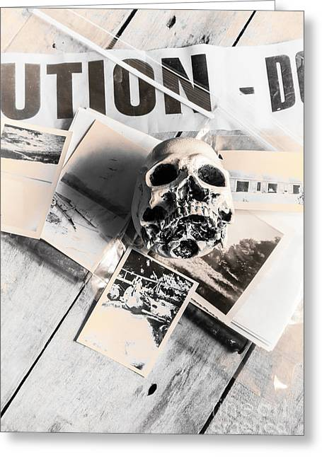 Evidence Of Old Crimes Greeting Card by Jorgo Photography - Wall Art Gallery