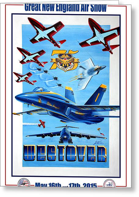 F-18 Paintings Greeting Cards - Evolution in Excellance Greeting Card by Peter Ring
