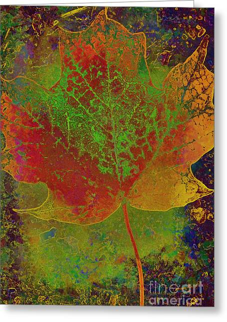Nature Abstract Mixed Media Greeting Cards - Evolution of Life Greeting Card by Deborah Benoit