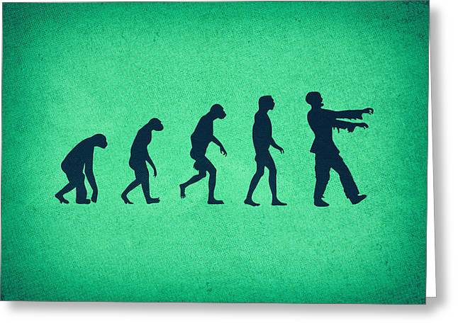 Mashup Greeting Cards - Evolution of Zombies Zombie Walking Dead Greeting Card by Philipp Rietz