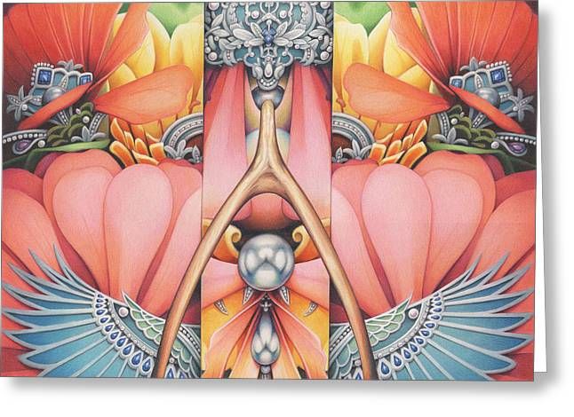 Pearls Drawings Greeting Cards - Evolve Undeterred Greeting Card by Amy S Turner