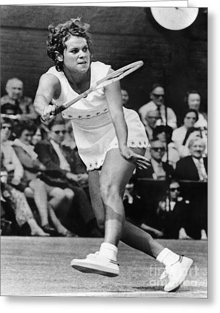 Tennis Match Greeting Cards - Evonne Goolagong (1951- ) Greeting Card by Granger