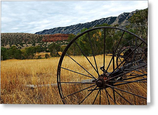 Best Sellers -  - Ewing Greeting Cards - Ewing-Snell Ranch 3 Greeting Card by Larry Ricker