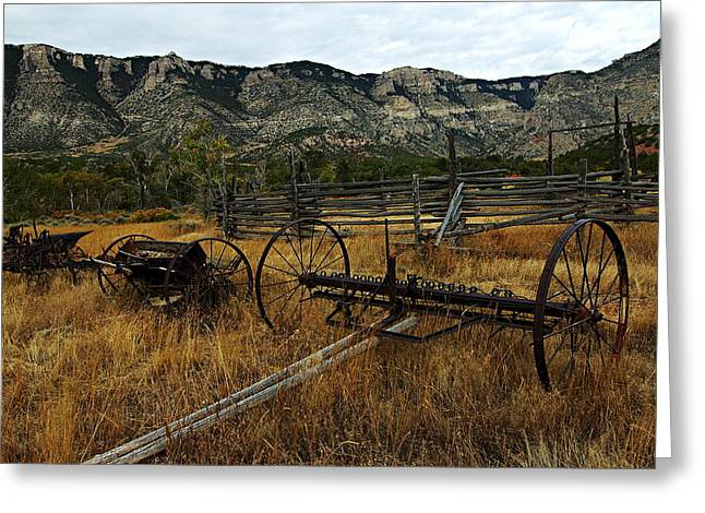Ewing-Snell Ranch 4 Greeting Card by Larry Ricker