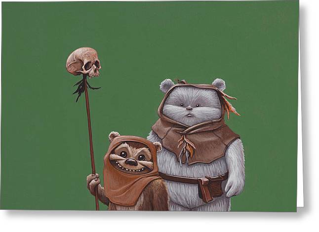 Ewoks Greeting Card by Jasper Oostland