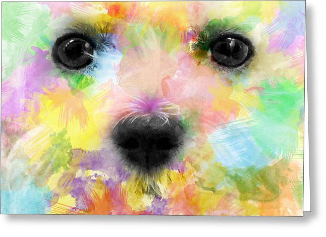 Puppy Digital Art Greeting Cards - Ex White Greeting Card by Carlos Vieira