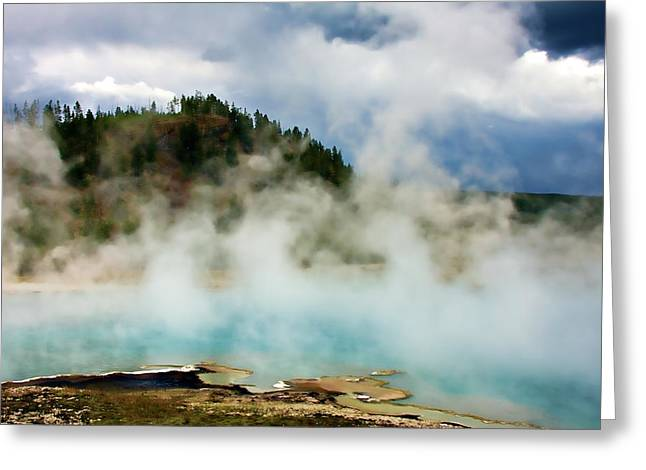 Boiling Greeting Cards - Excelsior Geyser Greeting Card by Lana Trussell