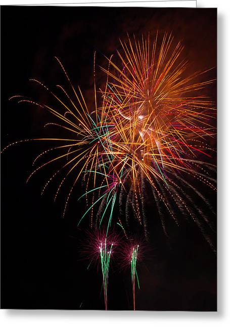 Exciting Fireworks Greeting Card by Garry Gay