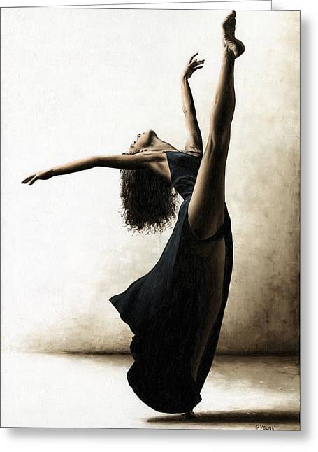 Modern Dance Greeting Cards - Exclusivity Greeting Card by Richard Young