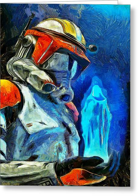 Nute Greeting Cards - Execute Order 66 Greeting Card by Leonardo Digenio