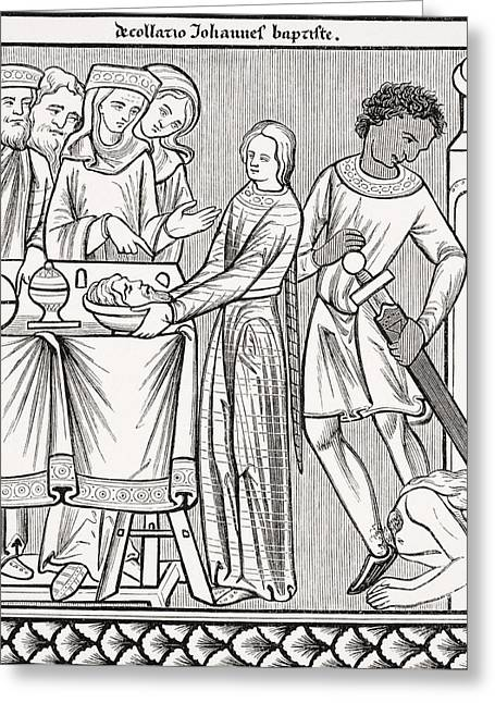 Testament Greeting Cards - Execution Of John The Baptist. Copy Of Greeting Card by Ken Welsh