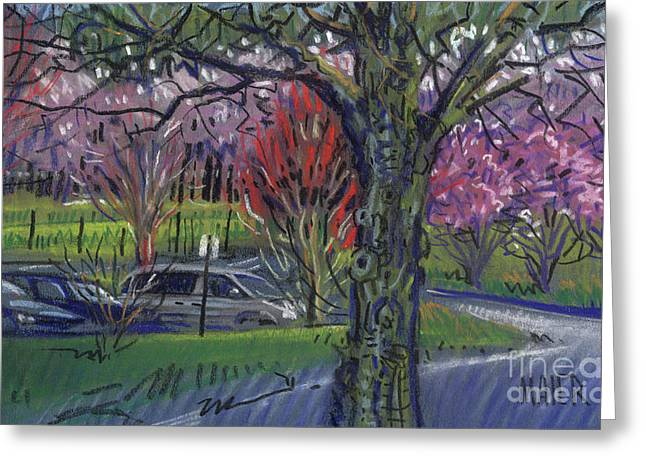 Food And Beverage Pastels Greeting Cards - Executive Park Greeting Card by Donald Maier