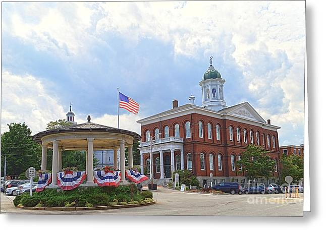 Exeter Town Hall Greeting Card by Catherine Sherman