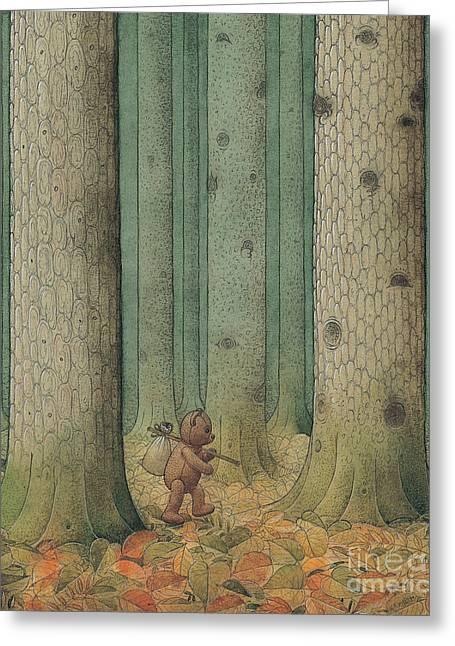 Teddybear Greeting Cards - Exile Greeting Card by Kestutis Kasparavicius