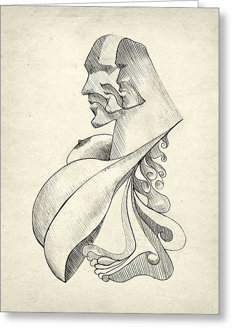 Sculpture Ideas Greeting Cards - Exile Greeting Card by Taylan Soyturk