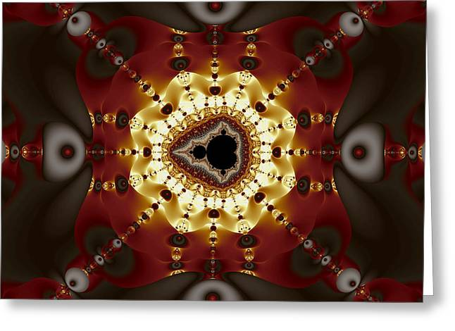 Exiled Mandelbrot No. 9 Greeting Card by Mark Eggleston
