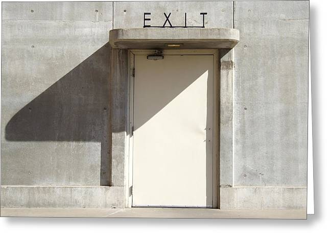 Doorway Digital Greeting Cards - Exit Greeting Card by Mike McGlothlen