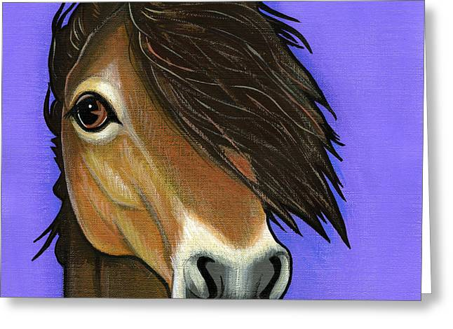 Wild Horses Greeting Cards - Exmoor Pony  Greeting Card by Leanne Wilkes
