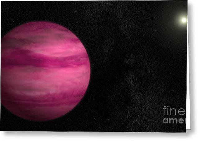 21st Greeting Cards - Exoplanet Gj 504b Greeting Card by Science Source