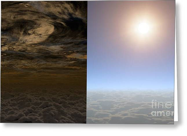 21st Greeting Cards - Exoplanet Hat-p-11b Aka Kepler-3b Greeting Card by Science Source