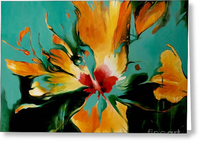 Lin Greeting Cards - Exotic Greeting Card by Lin Petershagen