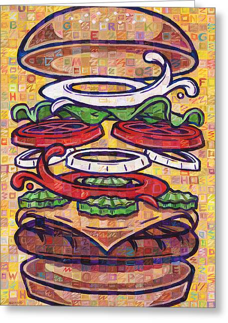 Expanded Cheeseburger Whopper With Cheese Greeting Card by Randal Huiskens
