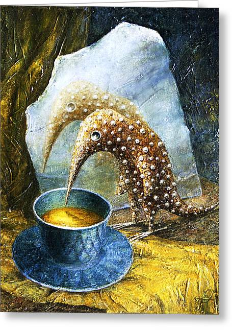 Birdman Greeting Cards - Expectation Greeting Card by Lolita Bronzini