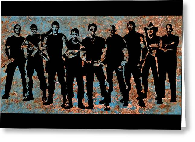 Expendables Greeting Card by Michael Bergman