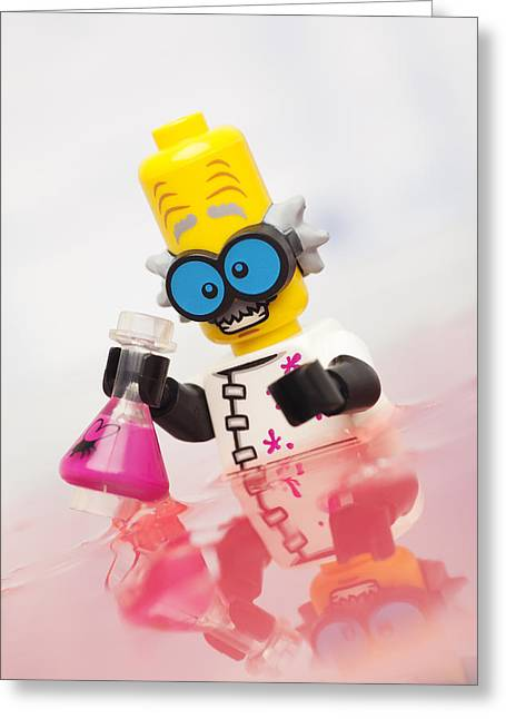 Lego Greeting Cards - Experiment Gone Wrong Greeting Card by Samuel Whitton
