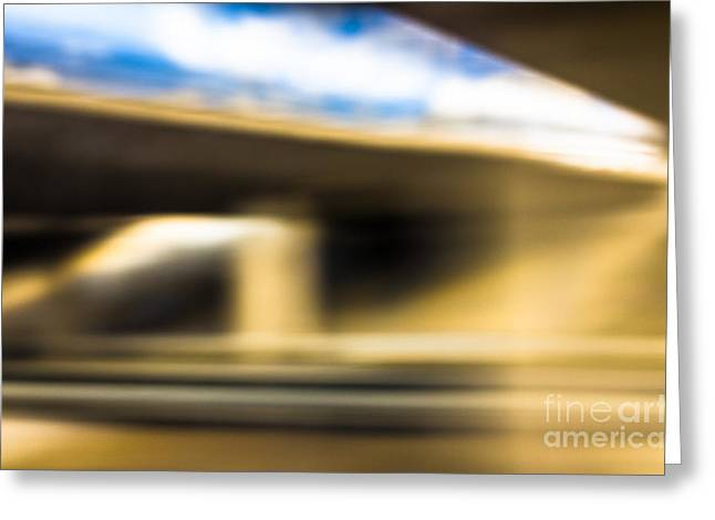 Roadway Greeting Cards - Experimenting Light Greeting Card by Ismo Raisanen